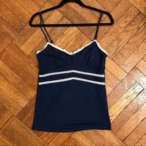 Guess Tank Top with Lace Detail